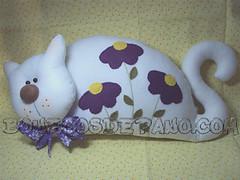 .:. Almofada Gata Deitada.:. (Bonecos de Pano .Com) Tags: cat felt gato gata feltro decorao almofada almofadagato gatodeitado gatocomlao