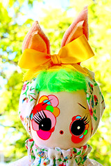 Imagine (boopsie.daisy) Tags: cute rabbit bunny vintage colorful doll sweet handmade ooak inspired ears plush homemade posedoll boopsiedaisy