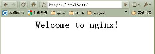 welcome nginx