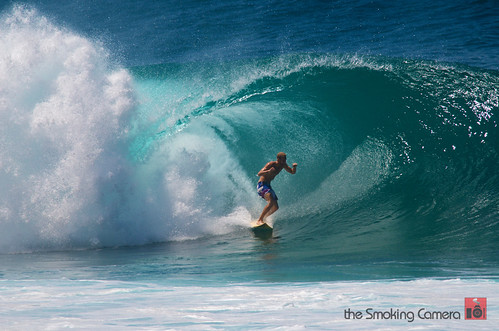 Surfing at Pipeline North Shore Oahu