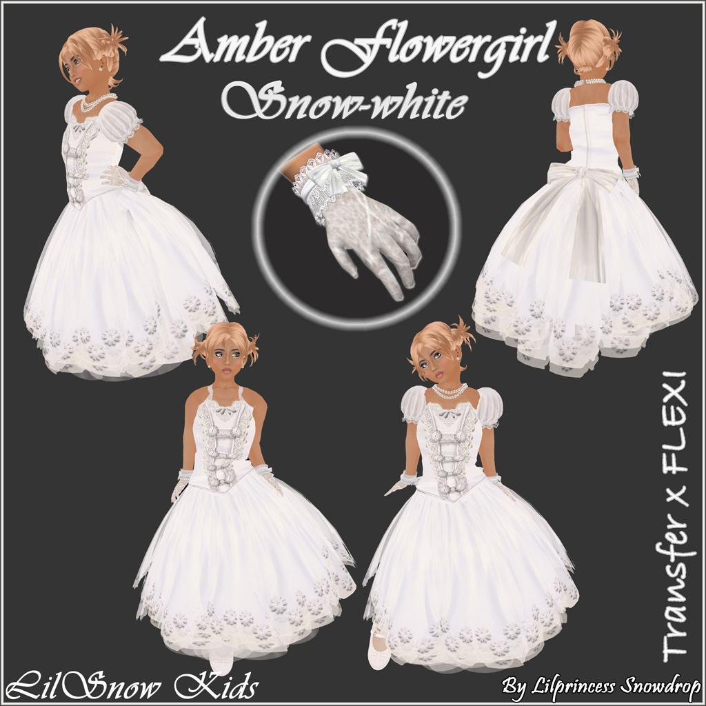 LSKids Amber Flowergal white