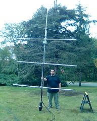 antenna party! (BrickyCement) Tags: radio mast antennas vhf hamradio