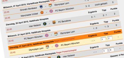 Fußball WM 2010 online tippen