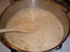 Yummmm whiskey cream sauce!