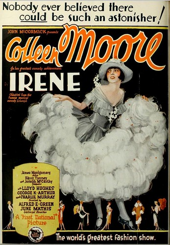 Vintage Film Advert for Colleen Moore in Irene 1926 by CharmaineZoe