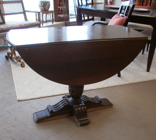 Pedestal Drop Leaf Table 44""