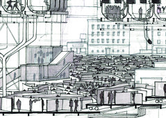 Section Detail # 2 (ryanprb) Tags: architecture drawing thesis hollywood psychogeography labyrinth
