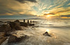 Every Breaking Wave (.Brian Kerr Photography.) Tags: longexposure sunset sky seascape clouds canon landscape rocks posts groyne silloth criffel galloway eos5dmkii