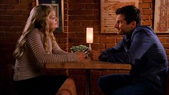 Shawn Spencer and Detective Jules O'Hara speed date