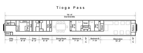 Train Chartering - Private Rail Car Tioga Pass plan