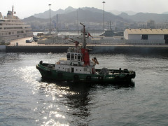 Sultanate of Oman - Muscat (Chris&Steve) Tags: oman muscat vessel harbour alqabil mutra portsultanqaboos 2008 harbor sultanateofoman 10millionphotos p100 v200 tugboat
