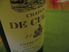 Chateau de Cugat Blanc 2006