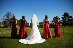 Women Who Golf (Extra Medium) Tags: golf bride bridesmaids bridesmaid weddingparty gown reddress bridalparty sunnyday oxnard goldcourse michellejeff losangelesweddingphotographer santabarbaraweddingphotographer wedgewoodbanquetcenter venturacountyweddingphotographer camarilloweddingphotographer venturaweddingphotographer malibuweddingphotographer