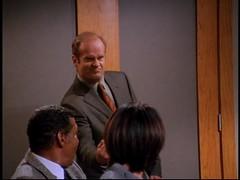Frasier Crane gives his neighbors the dirty finger