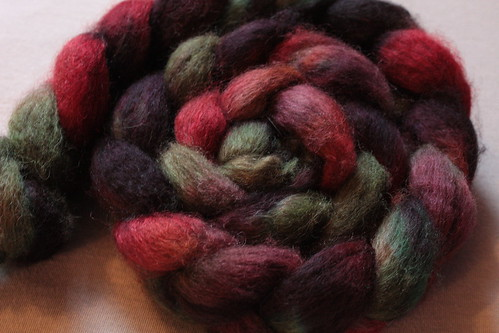 Hand-dyed brown BFL