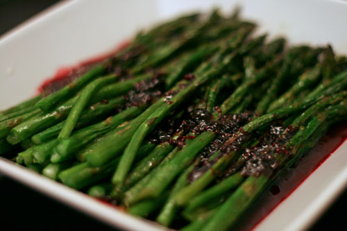 Roasted Asparagus with Raspberry Sauce