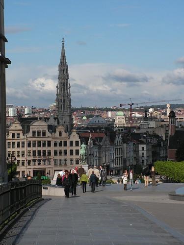 Вид на центр Брюсселя