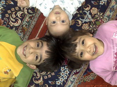 sadra&diba&dina (saeid.goodarzi) Tags: portrait cute face kids children happy nokia persian asia iran persia  esfahan   n95 ispahan