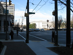 2009 01 23 - 0874 - Friendship Village - MD355 at S Park Ave - NfSW (thisisbossi) Tags: usa us md unitedstates maryland crosswalks trafficsignals friendshipvillage pedestriansignals southparkavenue md355