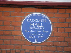 Photo of Radclyffe Hall blue plaque