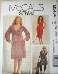 mccall's dress 5484 (carbonated) Tags: dress sewing patterns knot mccalls knitdress
