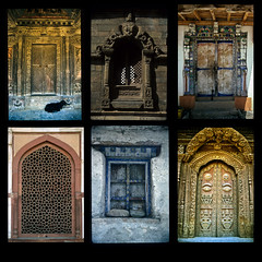 Doors and Windows of Nepal and India (Ralph Combs) Tags: travel nepal windows india film collage doors canon20d canona1 portals scancafecom