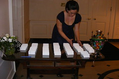 Arranging the place cards (Mama_Marfa) Tags: night russian 2009 winters