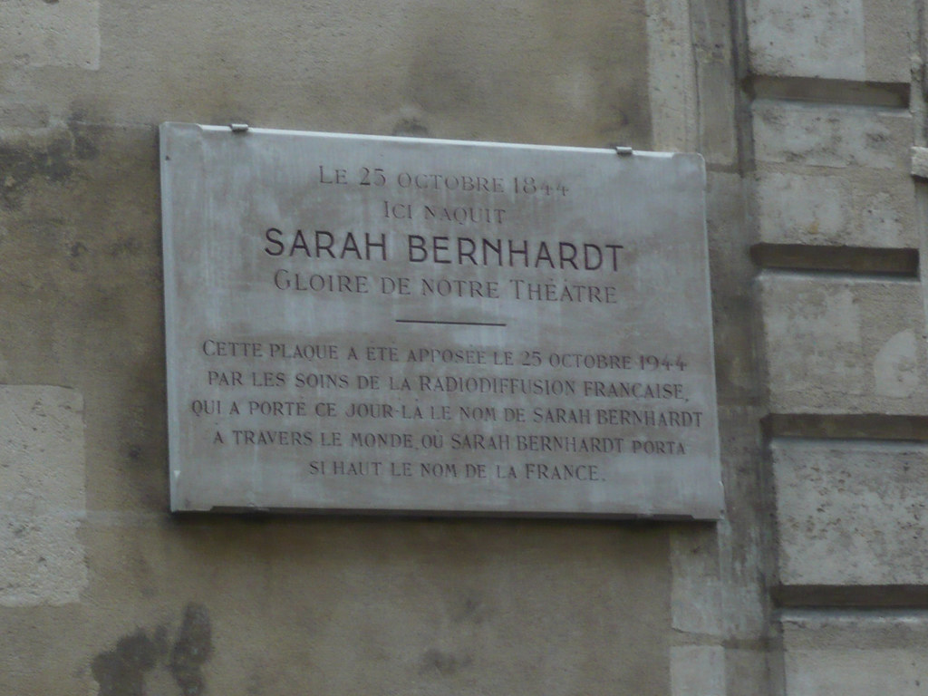sarah bernhardt plaque