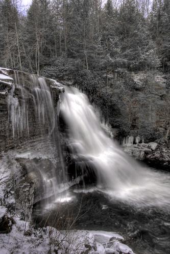 Muddy Creek Falls - Winter HDR