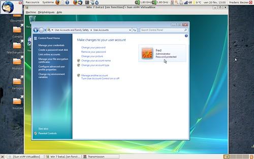 Le premier compte créé lors de l'installation de Windows 7 a toujours des droits administrateurs !