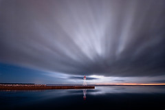 K20D0175 (Bob West) Tags: longexposure nightphotography lighthouse ontario night clouds lakeerie cloudy greatlakes nightshots sigma1020mm erieau southwestontario bobwest k20d eastlighthouseerieau
