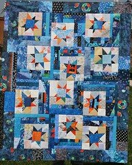 liberated stars top (QuiltingDoxies) Tags: scraps liberated scrappyquilt starsscrapsscrapquiltliberated