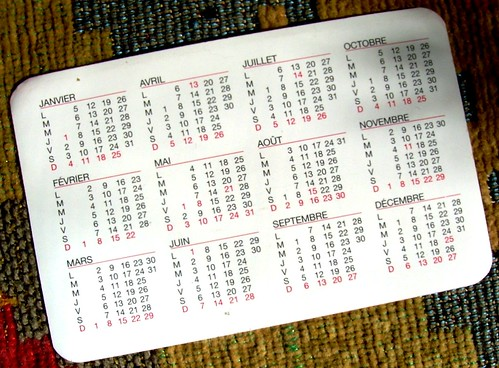 Pocket Calendar II