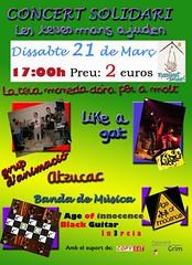 Cartell Concert Solidari - 21/03/2009