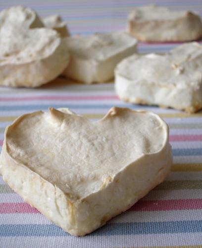Rose water meringue hearts