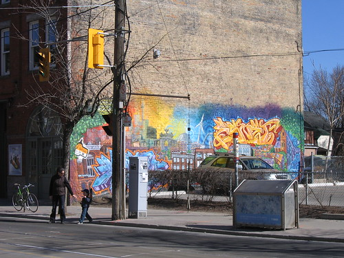 Parkdale grafitti and mural