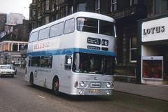Hi Ho, Silver (georgeupstairs) Tags: bus bells edinburgh princesstreet whisky alexander doubledecker leyland silverjubilee lothianregiontransport atlantean an68 alloveradvert