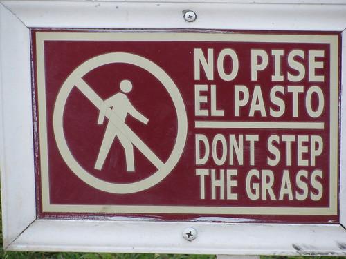 No Pise el Pasto
