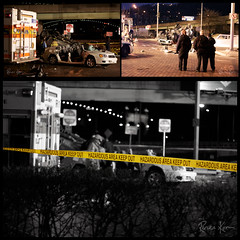 Grant St Exit Accident 29/365 (reneekosa) Tags: car pittsburgh cops crash accident scene renee firemen kosa