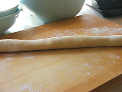 Dough Rolled into a Log