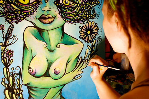 Green Lady-in process