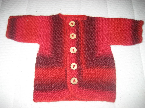 Look how great this yarn works up in a classic Baby Suprise Jacket!