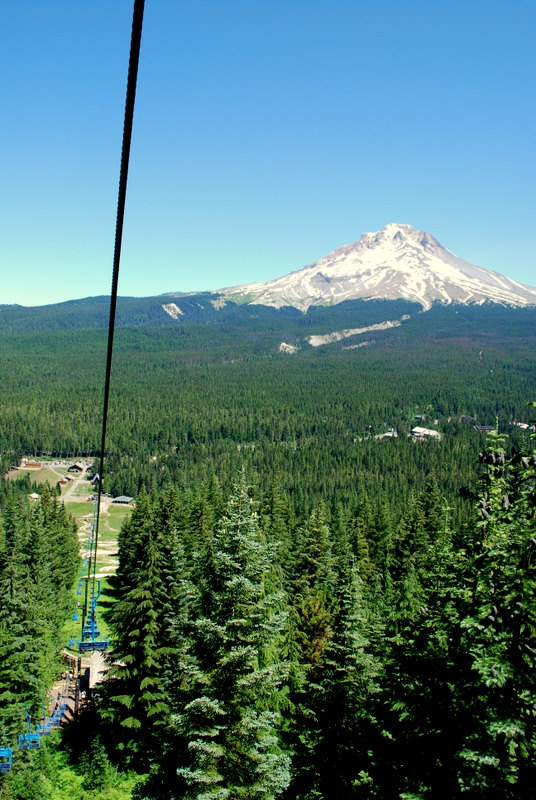 Mount Hood from Ski Lift 3