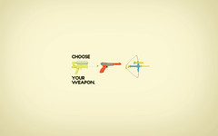 Choose (Pixel Fantasy) Tags: nes nerf bowandarrow zapper supersoaker retro80s vectorwallpaperweapon