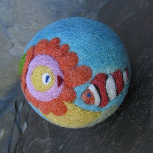 Felt Ball... Madam Anemone and Clown fish