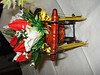 carrozzina di legno decorata con composiizione floreale (uncinetto_patrizia) Tags: e di fiori con composizione zucchero cestino alluncinetto inamidato