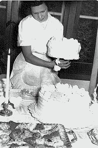 grandma wedding cake