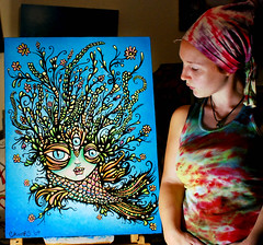 River Spirit- snap shot (lucidRose) Tags: fish painting artist acrylic spirit chelsearose lucidopticlab