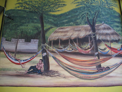 The hammocks on the safari.