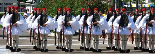 Evzones, changing of the guards, Athens, Greece.